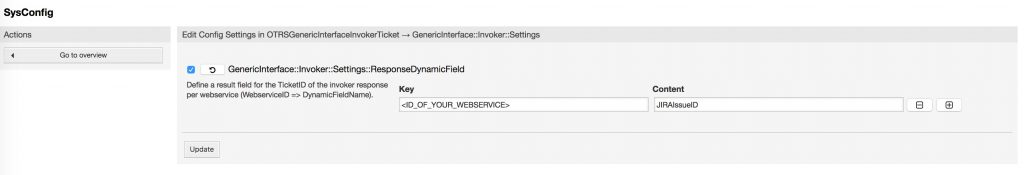 SysConfig Settings