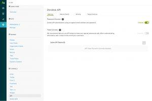 Zendesk Config Screen