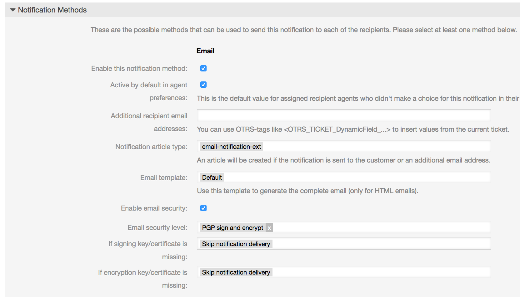 The OTRS Blog - Encrypt and sign notifications in OTRS via