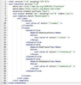GitHubConnector IssueCreate IncomingXSLT