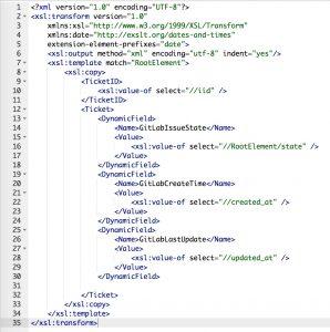 GitLabConnector IssueGet ncomingXSLT