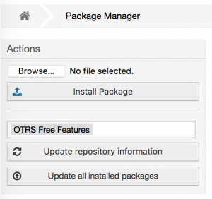 OTRS 6 package manager upgrade button